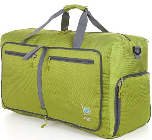 Bago Borsone Per Viaggio Bagaglio Palestra Sport Campeggio - Leggero e Pieghevole in se stessa. Borsone (Taglia Media 22'', Verde)