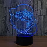 GZXCPC 3D Fisch Nacht Licht bunte