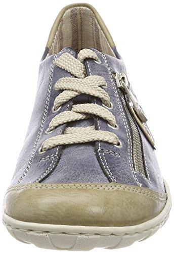 Rieker M3724, Scarpe da Ginnastica Basse Donna Blu (Marble/jeans/altsilber)