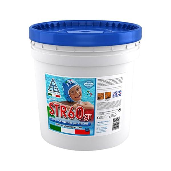 C.A.G Chemical 60GR0050 STR60GR Cloro Granulare a Rapido Scioglimento
