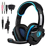 Sades SA708GT 3.5mm Stereo Gaming headsets Headphones with Microphone for PC, Laptop, Tablet