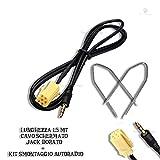 CAVO INGRESSO AUX MP3 SMARTPHONE PER AUTORADIO BLAUPUNKT FIAT GRANDE PUNTO PANDA CROMA LANCIA MUSA Y ALFA SMART LUNGHEZZA 150CM - Smartechnology - amazon.it