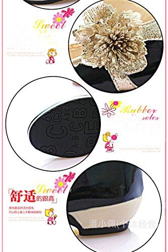 Gaorui Enfant Fille Princesse Chaussures de soiree Ballerines Chaussures Plates Couleurs Bonbons Rose