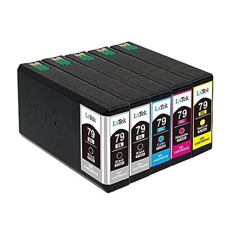 LxTek Compatible Cartouches d'encre Epson 79 XL (2 Noir, 1 Cyan, 1 Magenta, 1 Jaune) pour Epson Workforce Pro WF-4630DWF WF-4640DWF WF-5110DW WF-5620DWF WF-5690DWF WF-5190DW Imprimante