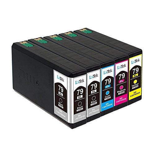 LxTek Sostituzione per Epson 79 79XL Cartucce d'inchiostro per Epson Workforce Pro WF-4630DWF WF-4640DTWF WF-5110DW WF-5620DWF WF-5690DWF WorkForce WF-5190 DW (2 Nero, 1 Ciano, 1 Magenta, 1 Giallo)