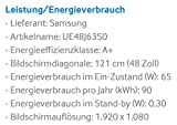 Samsung UE48J6350 121 cm (48 Zoll) Curved Fernseher (Full HD, Triple Tuner, Smart TV) - 3