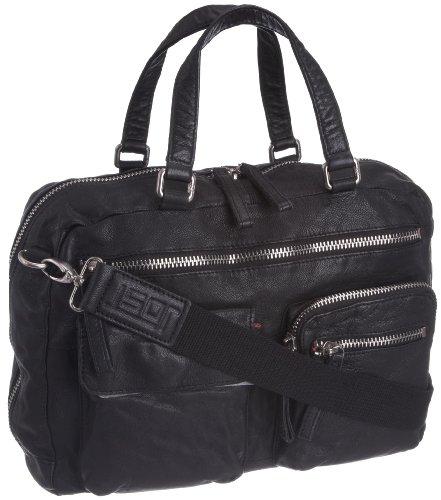 Jost ts 3909-001 Briefcases, Mallette mixte adulte - Noir-V.6, Large Noir