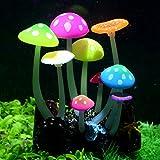 Uniclife Leuchtende, künstliche Pilz-Dekorationspflanze für Aquarien, Landschaftsdekoration