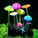 Uniclife Glowing Effect Artificial Mushroom Aquarium Plant Decor Ornament Decoration for Fish Tank Landscape 9