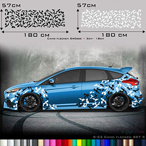 Seitenaufkleber Auto Tarn-Look Camo Aufkleber Camouflage Sticker Sticker Army Car kfz Karosserie Decal