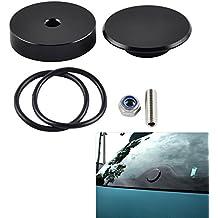 H2Racing CNC Negro Kit de limpiaparabrisas Trasero con Tapón de Bloqueo