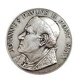 Médaillon Saint Pape Jean-Paul II et La place Saint-Pierre