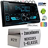 Mercedes E-Klasse W211 - Kenwood DPX-3000U - 2DIN USB CD MP3 Autoradio - Einbauset