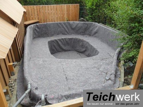 10 qm Teichvlies 300 g/qm | Premium Schutzvlies – 2 m breit x 5 m lang - 3
