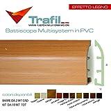 Battiscopa Multisystem in PVC effetto legno (ciliegio)