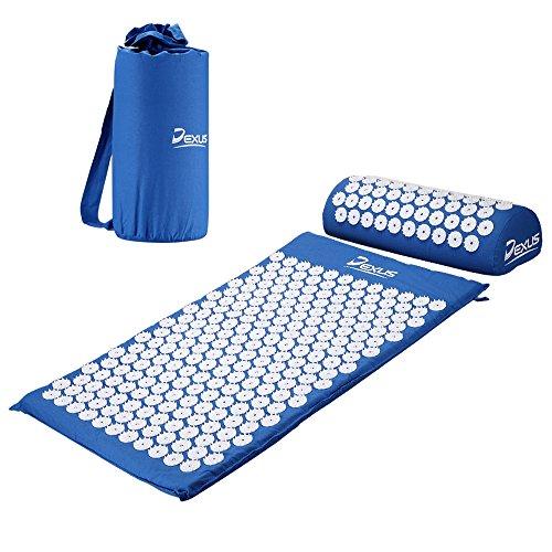 Dexus Akupressur-Set DX107, Akupressurmatte + Akupressurkissen + Tasche, in Blau zur Muskelentspannung