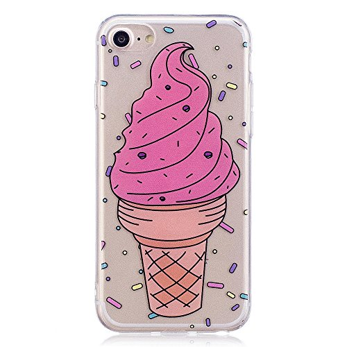 iPhone 7 Fall, xinyiyi stoßfest Soft Shell Langlebig kratzfest iphone 7 TPU Schutzhülle ice cream