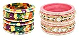 Suhag Bangles Festive Multi- Color Lac Bangle for Women (Size: 2.6, Seller 121--2.6)