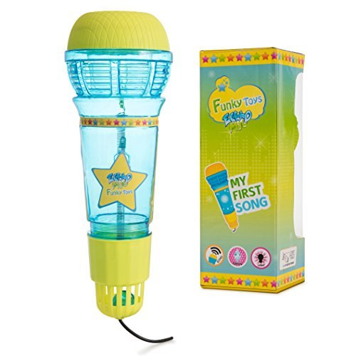 Echo Mic for Kids & Toddlers - Magic Microphone with Multicolored Flashing Light & Fun Rattle - Tran