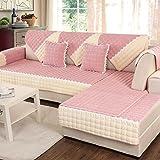 DW&HX Gesteppter Sofabezug Möbel-protector für haustier hund ,3 sitze Volltonfarbe Verdicken sie Sofaüberwurf Anti-rutsch -L 35x94inch(90x240cm)