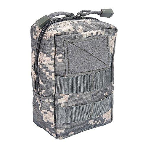 Aolvo Molle-Tasche, 1000d Nylon, wasserdicht EDC-Gang Multicam Taille Tasche, Mini-Gadget, Tasche für Wandern, Angeln, Bergsteigen, Camping, Outdoor, Sport, ACU