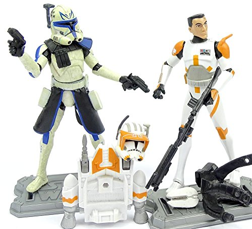 Clone Captain Rex und Clone Commander Cody im Set - lose /ausgepackt - Star Wars The Clone Wars Collection von Hasbro