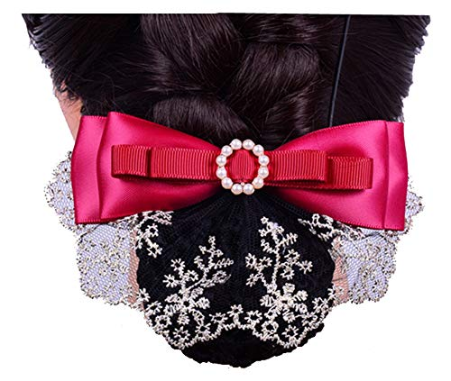 Accessoire pour femme Barrette à cheveux Barrette Hairnet, rouge