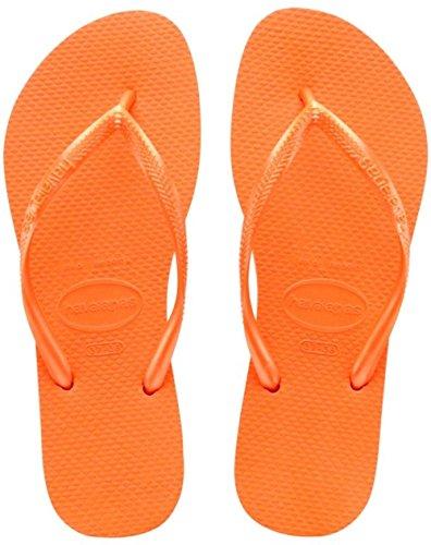 Havaianas Slim, Sandales Plateforme femme Orange (neon Orange 5206)