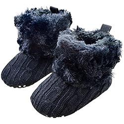 Malloom Baby Schneestiefel Weich Krippe Schuhe Kleinkind Stiefel (11, marine)
