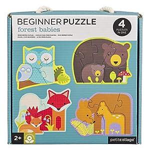 Petit Collage PTC340 Forest Babies - Puzzle para Principiantes, Multicolor