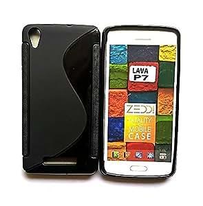 Lava P7 Magic Brand S-Line Black Soft Silicon Back Cover Case