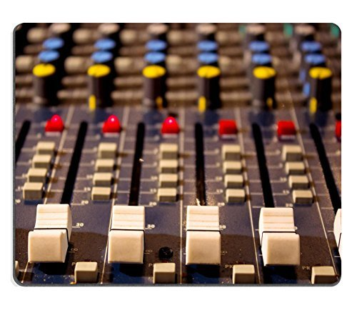 Luxlady Mousepads Sound mixing console Audio mixer mixing board fader and knobs photography IMAGE 24670583 Customized Art Desktop Laptop Gaming mouse Pad