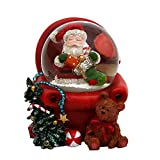 Schneekugel Santa im Sessel, Maße L/B / H: 5,5 x 6 x 5 cm Kugel Ø 3,5 cm.