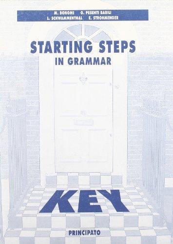 Key to starting steps in grammar. Per la Scuola media