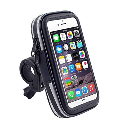 DFV mobile - Professionelle Reflektierend Unterstützung für Motorrad Fahrrad Lenker und drehbare Wasserdichte 360 ºfür=> RUGGEAR RG850 > Schwarz