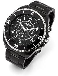 INTELIHANCE.  13918JSBS/02M - Reloj de cuarzo para hombre, con correa de acero inoxidable, color negro