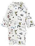 Mumins - Kinderbademantel -Mumin an die Riviera- Weiß, Größe 5-6 Jährigen (110-122 cm) (Finlayson)
