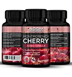 Montmorency Cherry Capsules Max Strength | 120 Freeze Dried Montmorency Cherry Extract | FULL 4 Month Supply | Powerful Antioxidant | Achieve Health Goals FAST | Safe And Effective | Best Selling | Manufactured In The UK! | Results Guaranteed | 30 Day Money Back Guarantee