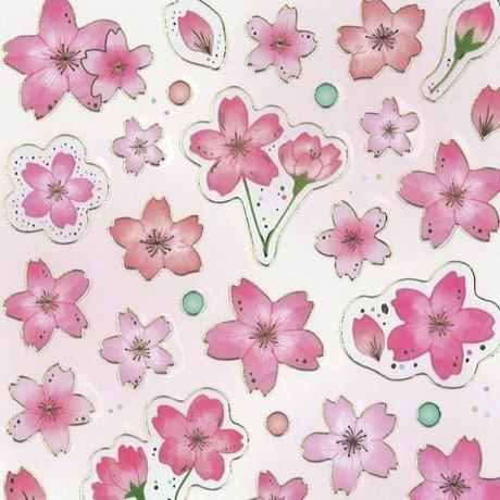 Sakura flower dot gold metallic embellishment stickers by Mind Wave