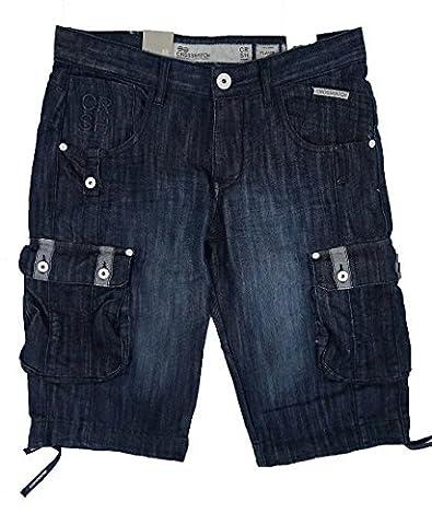 Hommes Crosshatch Joueur 16 Hommes Longueur Genou Jeans Style De