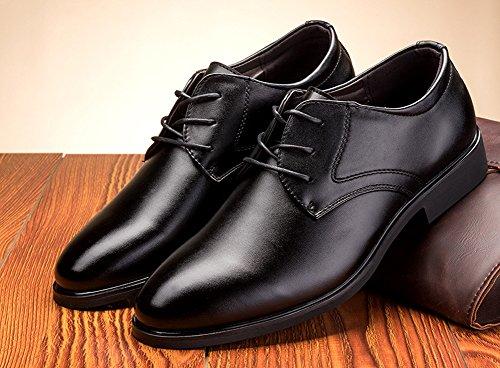 Anlarach Noir Marron Formal Bureau Cuir Chaussures Pour Hommes Noir