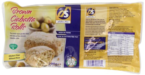Dietary Specials Brown Ciabatta Rolls 200 g (Pack of 6) Test