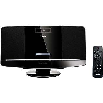 Philips MCM2050/12 2-Wege Bassreflex-Kompaktanlage (CD/MP3-CD/WMA-CD/UKW, USB-Host, MP3-Link, Uhr) schwarz