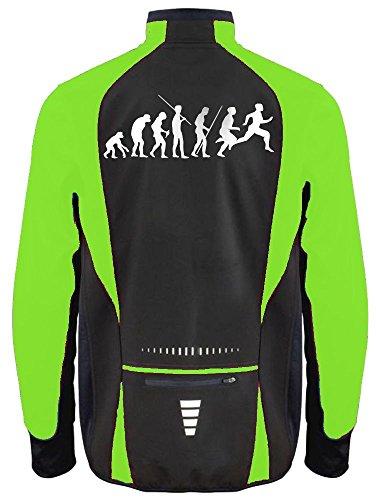 Coole-Fun-T-Shirts Laufjacke Evolution Running Softshell NEON DS Gelb, Herren, GR.L -