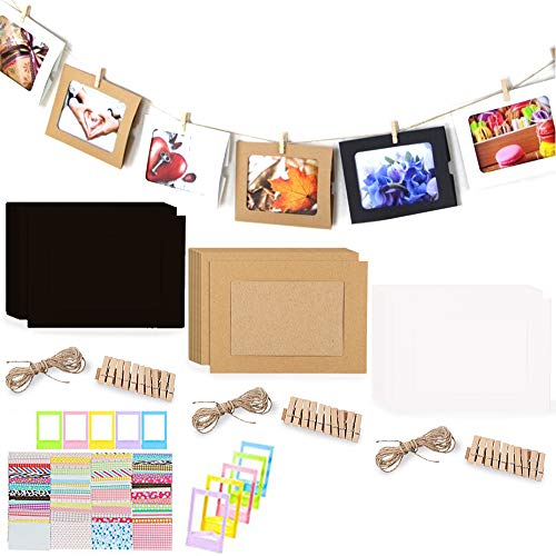 REKYO 30pcs Pared Deco DIY De Papel Foto Marco