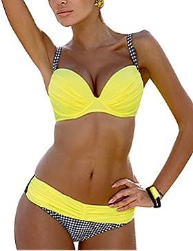 Gladiolus Donna Push-Up Reggiseno Imbottito Della Griglia Triangolo Bikini Costumi Da Bagno Beachwear Swimwear...