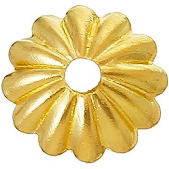 40 Perlenkappen Metall Spacer 10mm Gold Zwischenteile Endkappen für Schmuck M516
