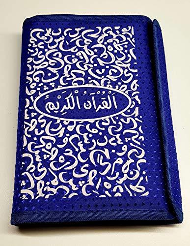 Koolkidzplus Ltd Schutzhülle im islamischen Koran Hält den Heiligen Koran geschützt mit Stifthalter 22 cm blau