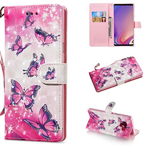 SHUYIT Samsung Galaxy Note 9 Hülle, Farbe Muster 3D PU Leder Hülle Wallet Flip Case Cover Ledertasche Schutzhülle Handyhüllen für Samsung Galaxy Note 9 Schale mit Ständer Kartenfach Magnetisch