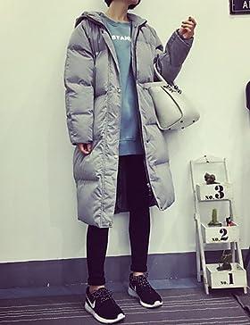 TT & ShangYi largo acolchado de mujer, Abrigo Simple Casual liso algodón polipropileno manga larga, One-Size